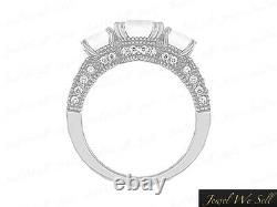 0.5ct Diamond Past Present Future Engagement Ring 10K White Gold H SI2 Accents