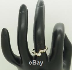 14K Gold 0.50ctw F-VS1 Marquise Diamond Solitaire withRound Accent Engagement Ring