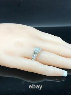 14K White Gold 1.50ctw G/SI-2 Princess Cut Diamond withAccents Engagement Ring 7