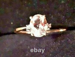 1ct Morganite Solitaire Accent Engagement Ring 9ct Solid Rose Gold