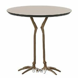 24 Accent Table Modern Iron Mirror Brass Antique Bronze Gold Brown Yes