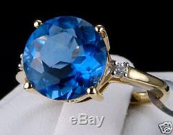 4.31ct Genuine Color Change Fluorite with Accents 10k Solid Gold Ring, Size 7