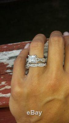 5.52 ct Diamond Solitaire With Accents Engagement Bridal Ring Set 14K White Gold