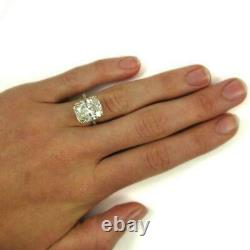 6Ct Cushion Cut Diamond Accent Solitaire Engagement Ring 14ct Rose Gold Over