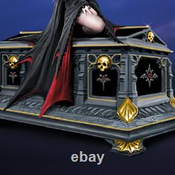 Anne Stokes Gothic Vampire Queen Crypt Music Box Porcelain 22k Gold Accents