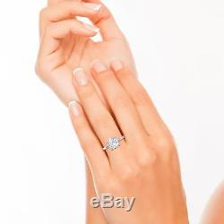 Baguette Accents 2.55 Carat SI1/F Round Cut Diamond Engagement Ring Rose Gold