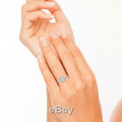 Baguette Accents 3 Ct SI1/F Emerald Cut Diamond Engagement Ring White Gold