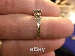 Beautiful 10k Yellow Gold & Diamond Marquise Setting Engagement Ring & Accents