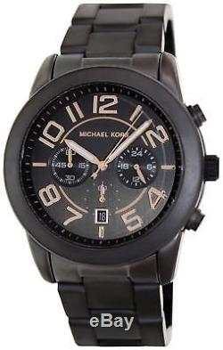 Brand New Michael Kors Mk8330 Mercer Gunmetal With Rose Gold Dial Accents Watch