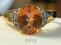 Brand-new 10k Gold 3.45 Carat Azotic Topaz & Accent Ring 3.28 Grams + Ring Box