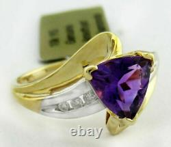 Brand-new 10k Gold And 2.0 Carat Alexandrite & Accent Ring 3.40 Grams+ Ring Box