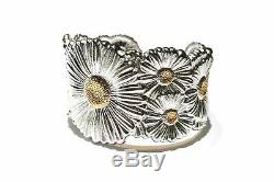 Buccellati Blossoms Daisy Cuff Bracelet, Sterling Silver with Gold Accents