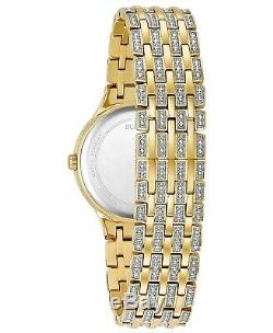 Bulova Women's Phantom Gold-Tone Crystal-Accent Stainless Steel Bracelet Watch