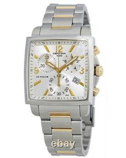 CERTINA Ds Podium Chronograph Ladies Gold Plated Accents Watch Swiss RRP £790