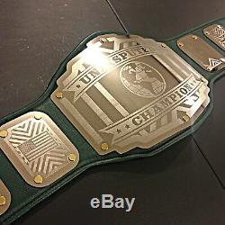 CLEARANCE! Undisputed Championship Belt Legend Emerald Green Gold Accents wwe