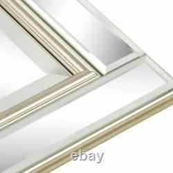 Canora Grey Barber Accent Mirror Wall Mounted Retangle, Gold