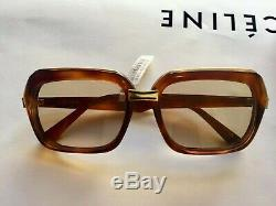 Celine Oversized Square Sunglasses CL40051I Brown Gold RP $650 Aged Gold Accents