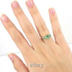 Chrome Diopside Diamond Accent 10K Yellow Gold Ring Size 6 LHI2