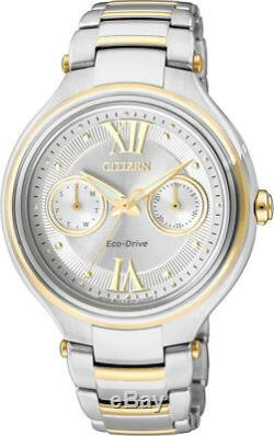 Citizen Eco-Drive Steel with Yellow Gold Accents Ladies Watch. 5 ATM. FD4005-57A