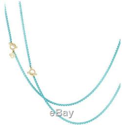 DAVID YURMAN Turquoise Bel Aire Chain Necklace with 14K Gold Accents NEW