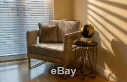Designer Chair Save Occasional Accent Armchair Sofa Tub Chair with Gold Leg Base