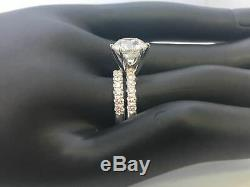 Diamond Band Set Ring Anniversary Accents 4 Ct Appraised Round 14 Kt White Gold