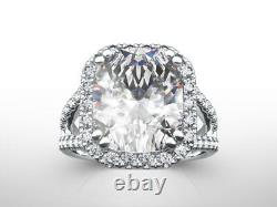 Diamond Ring Halo Set Estate 5 Ct Solitaire W Accents 14 Kt Yellow Gold Ladies
