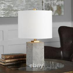 Drexel Modern Farmhouse Style Stained Concrete Accent Table Lamp Uttermost