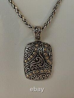 Effy Jewelry 925 Sterling Silver and 18K Yellow Gold Accents Pendant/Gift
