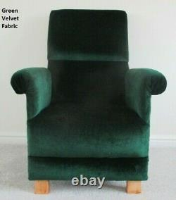 Emerald Green Velvet Fabric Adult Chair Armchair Bedroom Accent Kitchen Lounge