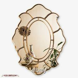 Gold Oval Accent Wall Mirror, Decorative Oval Mirror for wall, Peruvian mirrors