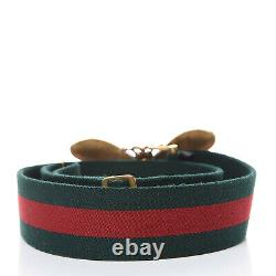 Gucci GG Bee Web Accent Belt Kit Green Red Box 30 Italy Bees Gold Black New