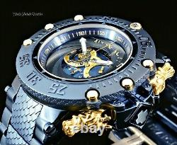 Invicta 50mm SUBAQUA NOMA VII SHUTTER Gold & BLUE withDiamond Accent Markers Watch