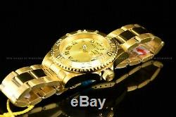 Invicta Men's 40MM Pro Diver Diamond Accent Swiss 18K Gold Plated Braclet Watch