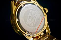 Invicta Women Pro Diver 18K Gold Plated Gold Dial Crystal Accent Bracelet Watch