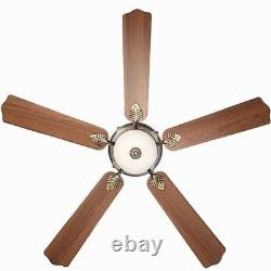 Large 60 Gold Emblem Ceiling Fan + Remote Old World Bronze Accent Light Fixture