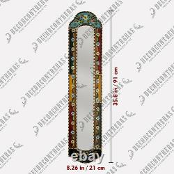 Long Narrow mirror wall art 35.8H, Antique Gold Wood Framed Wall Accent Mirrors
