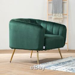Lounge Armchair Fireside Tub Accent Chair with Metal Golden Leg Office Reception