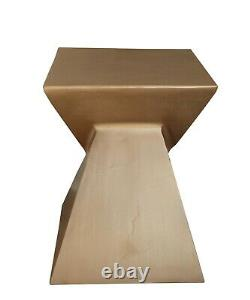 Luxore Pyramid Aluminum Side Table/Accent Table (Gold)-ST85G