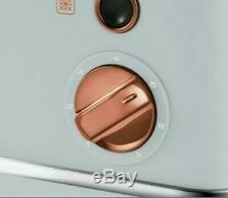 MORPHY RICHARDS ACCENTS collection 4-Slice Toaster and Kettle Grey& Rose Gold