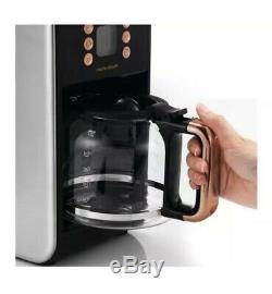 MORPHY RICHARDS Accents 162011 Filter Coffee Machine Black & Rose Gold