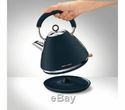 MORPHY RICHARDS Collection Traditional Kettle and Toaster Set =Blue & Rose Gold