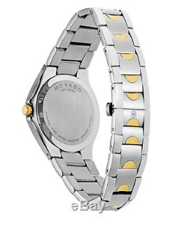 MOVADO Luno Black Dial withGold Accents & 18k Gold & Silver Stainless Case 0606906