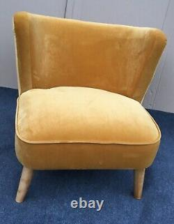Marle Accent Occasional Chair, Mustard Velvet