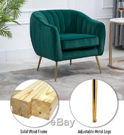 Modern Fabric Armchair Luxury Lounge Chair Occasional Accent Seat Teal Bedroom