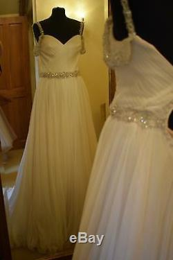 Mori Lee Wedding Dress 6814 Size 10 Light Gold/silver accents