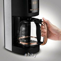 Morphy Richards Accent Stainless Steel Toaster/Kettle & Coffee Machine Rose Gold