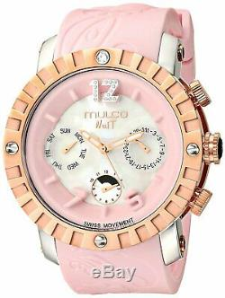 Mulco White and pink premium mother of pearl with rose gold accents MW5 1876-813