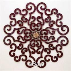 NEW LARGE 50 TUSCAN SCROLL GOLD ACCENT ORNATE Acanthus Wall Grille Medallian