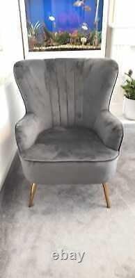 NEXT Accent Chair With Gold Legs